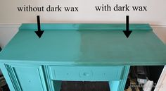 annie sloan florence and dark wax - wax deepens color of chalk paint