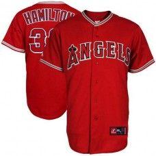 LA Angels of Anaheim #32 Josh Hamilton Red Replica Baseball Jersey_Josh Hamilton Baseball Jersey