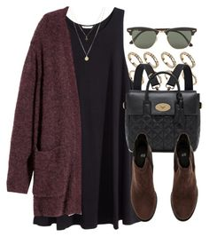 """""""Style #10072"""" by vany-alvarado ❤ liked on Polyvore featuring H&M, ALDO, Mulberry, Ray-Ban and ASOS"""