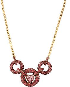 ICONIC PINKALIOUS CIRCLE LINK NECKLACE FUSCHIA accessories jewelry necklaces fashion