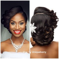 Beautiful bridal hair by @uniqueberryhairs , makeup by my bro @davesucre☺️☺️…