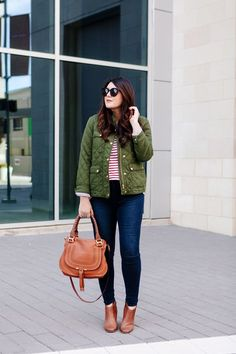 I am crazy about a field jacket for fall. But I'll be honest, this is a jacket that's been around the seasonal block for a few years now and an updated look was due. Autumn Winter Fashion, Fall Winter, Brown Booties, Field Jacket, Fall Jackets, What To Wear, Chic, Outfits, Losing Weight