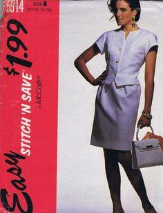 Skirt Jacket SEWING PATTERN MCCALLS 5914 SZ 10-16 BUST 32.5-38 HIP 34.5-40 UNCUT