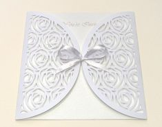Rose Gate-Fold Invitation Envelope by BirdsCards - Cards and Paper Crafts at Splitcoaststampers Free Silhouette Files, Silhouette Cutter, Silhouette Studio, Shilouette Cameo, Cricut Wedding Invitations, Rena, Square Envelopes, Scrapbooking, Fold Envelope