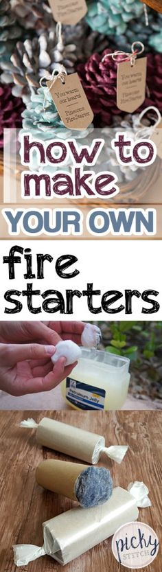 How to make your own fire starters firestarters, diy firesta Camping Hacks, Camping Diy, Winter Camping, Scout Camping, Camping Ideas, Camping Fire Starters, Make Your Own, Make It Yourself, Christmas Gifts For Girls