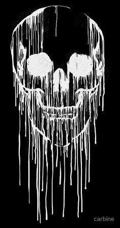 Skull art - black and white #ilustration