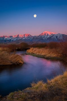 Owens River's Big Moon  by Celso Mollo