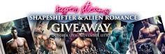Super-steamy, shapeshifter & alien romance giveaway.   https://loom.ly/kCHK9K8