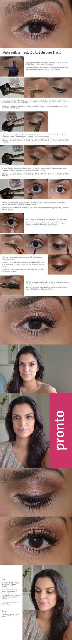 Tutorial: Levinho com um toque rosa http://www.2beauty.com.br/blog/2015/01/30/tutorial-levinho-com-um-toque-rosa/ #tutorial