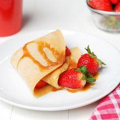 Strawberry and Dulce de Leche Crepes