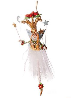 Patience Brewster Poinsettia Princess Ornament Sale!: Patience Brewster Poinsettia Princess Ornament. Stone, resin.  7.5
