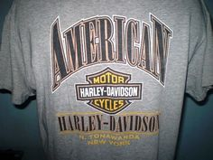 Harley-Davidson Gray Large T-Shirt North Tonawanda NY Cotton  | eBay