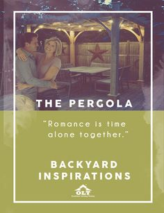 Backyard Inspirations Pergola Romance