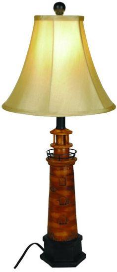 Nautical Brown Lighthouse Table Lamp - Beachfront Decor