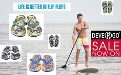 DEVERGO flip flops -and more- for men Life Is Good, Flip Flops, Mens Fashion, Baseball Cards, Jeans, Style, Moda Masculina, Swag, Man Fashion