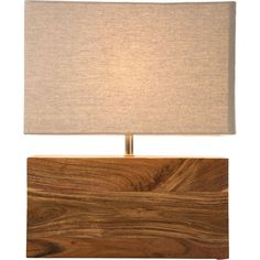 Table Lamp Rectangluar Wood Nature - KARE Design