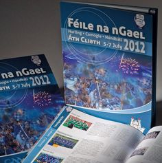 Designed for the GAA by CUBE design for the Camogie, Hurling and Handball Féile Competitions held in Dublin in © Copyright Barbara Monahan CUBE design 2012 Cube Design, Dublin, Competition, Hold On, Cover, Books, Handball, Libros, Naruto Sad