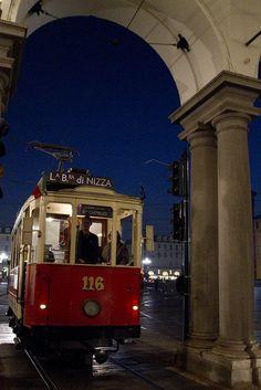 Historic Tram,Turin, province of Turin , Piemonte region Italy