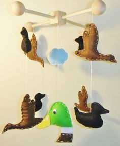 Duck Hunter Flying Boy Newborn Decorative by FunNurseryNKidDecor, $89.00