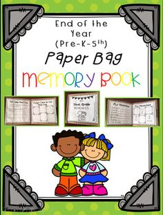 This End of the Year Paper Bag Book Includes***Instructions for Easy Assembly***Pre-K through 5th Grade Pages***My School***My Teacher***All About Me***What I Look Like***My Favorites***My Class Field Trip***What I Saw on My Class Field Trip***What I Learned in Math***What I Learned in Reading***What I Learned in Science***What I Learned in Social Studies***Top 5 School Lunches***Top 5 Recess Games***Top 5 PE Games***Top 5 Favorite Centers***What I Will Miss the Most***My Favorite Day This…