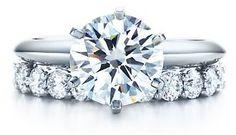 Tiffany Knife Edge Solitaire & Eternity Wedding Band