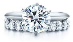 Perfect engagement&wedding rings from Tiffany