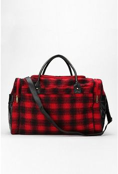 Fall Hobo Bag in Red Black Buffalo Plaid w Leather by hellome ...