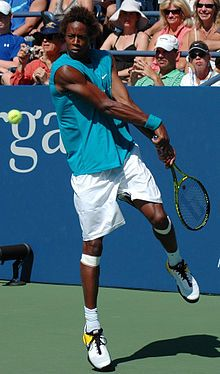 Gael Sebastian Monfils (born September 1, 1986) is a professional tennis player. Monfils is a former French No. 1, reaching a career-high singles ranking of World No.7 He was a semifinalist in the 2008 French Open. He is of Caribbean heritage. His father , a former football player  Guadelope  and his mother from the nearby island of Martinique. He has a younger brother Daryl with whom Gael played doubles together in the 2012 Open Sud de France.   (Photo: Gaël Monfils at the 2009 US Open 13)
