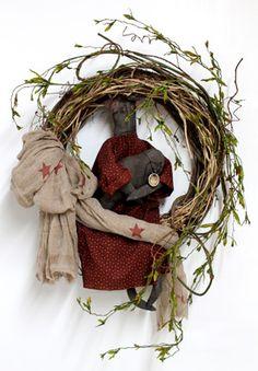 Cora & Crow, Primitive, Country Wreath