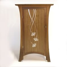Walnut cabinet, with stunning silver gilded design Gilded, Walnut Cabinets, Timber, Furniture, Bespoke Furniture, Home Decor