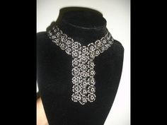 Handmade Jewelry: Elegant Black Trio Necklace Part 1 of 2 - YouTube