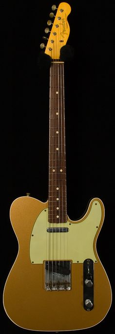 fender - '62 custom tele relic. faded firemist gold. wow.. what a color name..  http://www.vintageandrare.com/category/Guitars-51