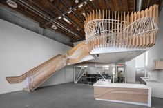 Stairs and railings, 3DS Culinary by Oyler Wu Collaborative