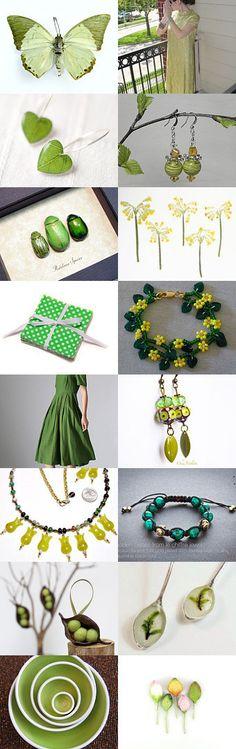 Green Day by Maryna Tezina on Etsy--Pinned with TreasuryPin.com #Etsyvintage #Estyhandmade #freshfinds