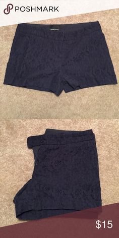 Navy blue lace shorts EUC! 3 inch inseam. Purchased from Marshalls Cynthia Rowley Shorts