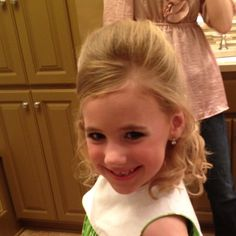 (front) little girl pageant hair