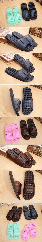 Jelly plastic slippers flat bottom soft bottom crystal cooler slippers female home indoor slippery bath bathroom bath summer