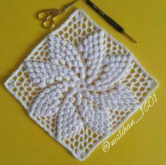 Crochet Bedspread Pattern, Crochet Blocks, Granny Square Crochet Pattern, Crochet Diagram, Crochet Squares, Crochet Granny, Crochet Blanket Patterns, Crochet Motif, Crochet Designs