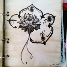 Not perfect since i made it in hospital, but still... More work)  #scetch #flower #art #tattooart