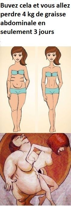 Buvez cela et vous allez perdre 4 kg de graisse abdominale en seulement 3 jours