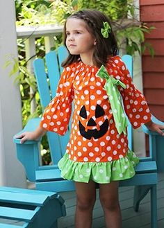 Get $3 off your next order of $3 or more when you purchase anything from our Halloween selection! offer expires 10/2.  Halloween Polka Dot Jack-o-Lantern Dress