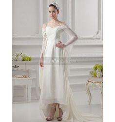 Robe de mariée très particulière asymétrique en chiffon économique sur miamastore