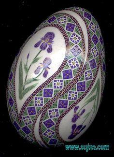 Bearded Iris Turkey Pysanka 5a | Flickr - Photo Sharing!