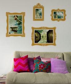 moldura barroca. kit com 4 molduras adesivas para fotos. Criado por Ana Luisa Brandão.