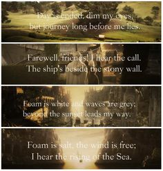 Bilbo's Last Song Love The Lord, Lord Of The Rings, Bilbo's Last Song, Middle Earth Books, Legolas And Tauriel, Earth Memes, Rr Tolkien, Concerning Hobbits, Into The West