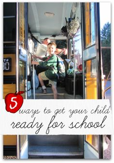 5 ways to get your kids ready for school from No Time for Flashcards