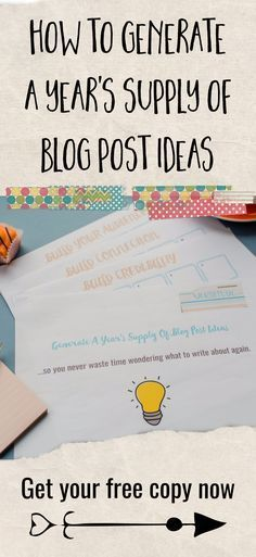 Entrepreneurs - generate a year's supply of business blog post ideas in under 20 minutes with this quick and easy workbook. Blogging tips and ideas for small business owners, entrepreneurs and solopreneurs.