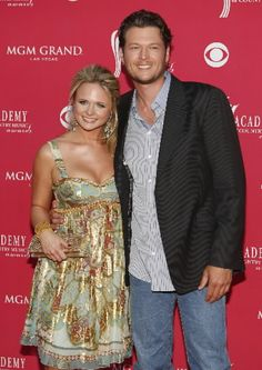 Blake Shelton and Miranda Lambert.