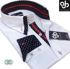 New Mens Formal Smart, White, Black, & Red Double Collar Italian Slim Fit Shirt Mens High Collar Shirts, Mens Shirt And Tie, Corporate Shirts, Boys Kurta Design, Tailoring Techniques, Formal Shirts, Kurta Designs, Shirt Style, Menswear