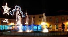 Boa noite :D A iluminação de Natal na rotunda da Ponte Velha de Arcos de